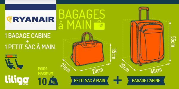 format bagage à main avion