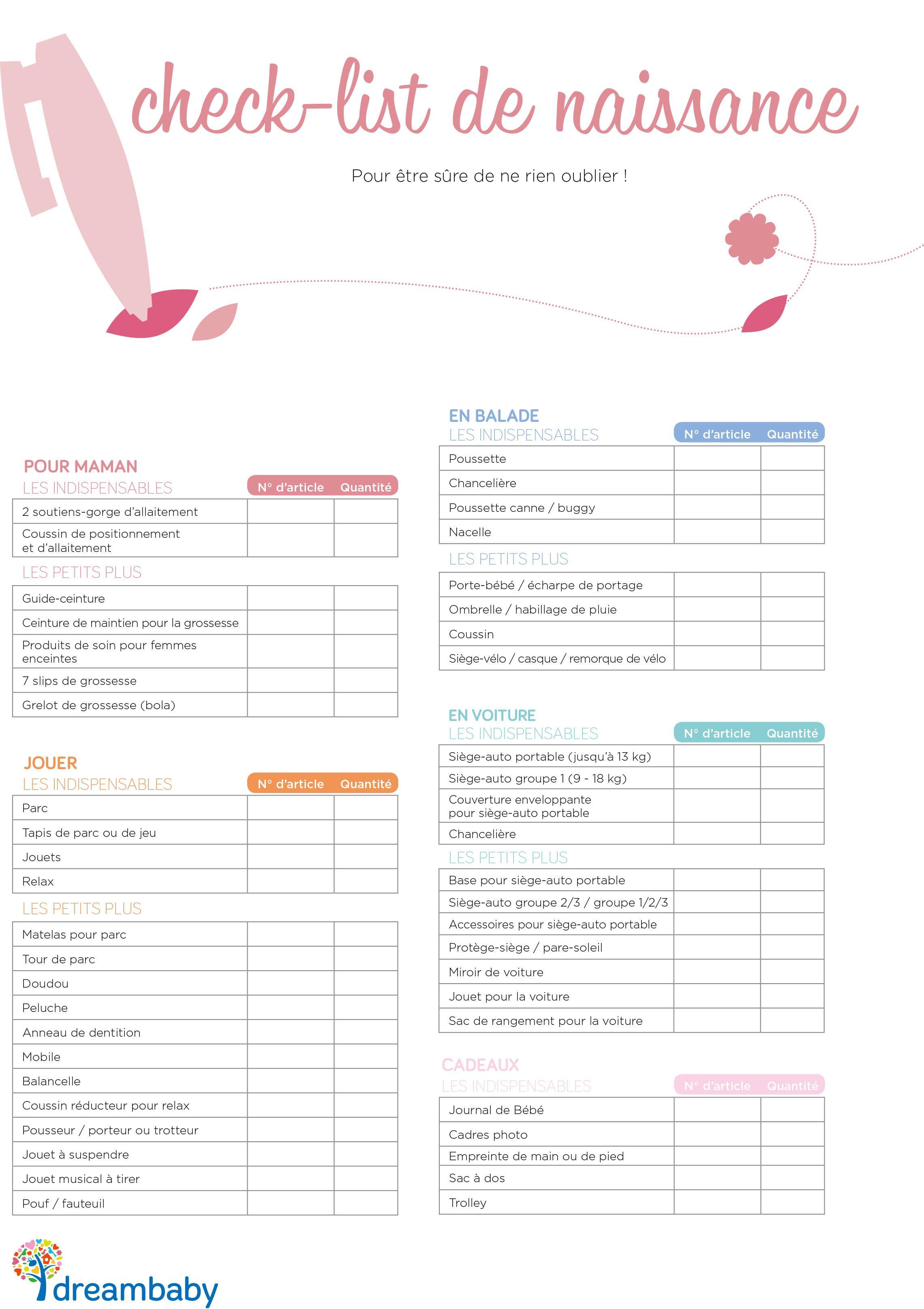 exemple liste de naissance complete