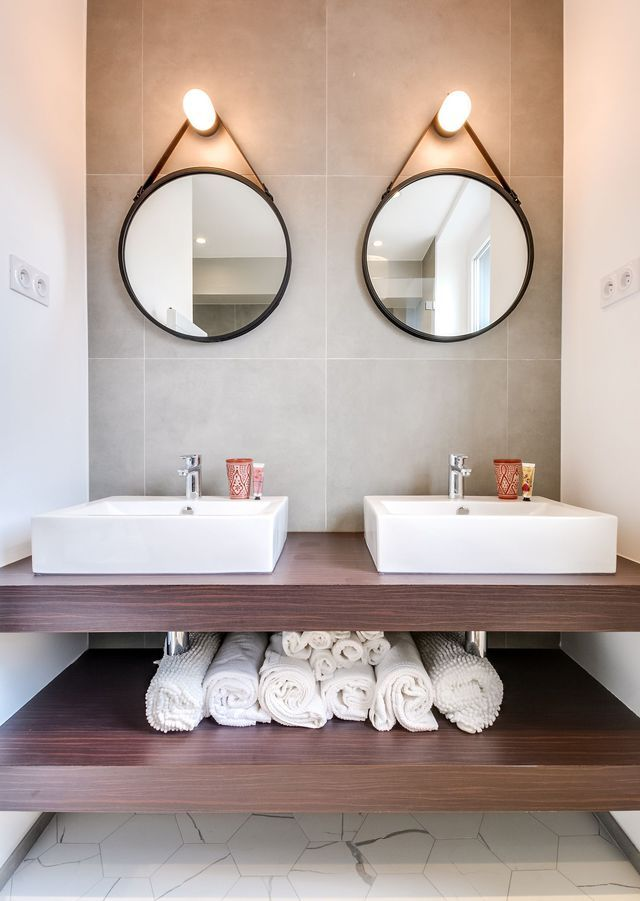 miroir rond salle de bain