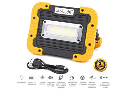 projecteur chantier led rechargeable