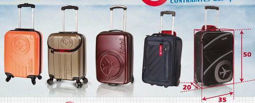 leclerc valise cabine