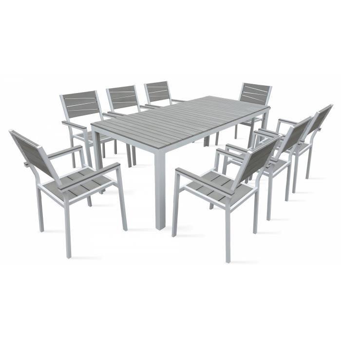 table de jardin en aluminium