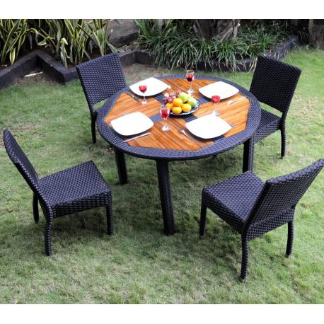 table de balcon inoxydable greemotion Table de jardin ronde ...